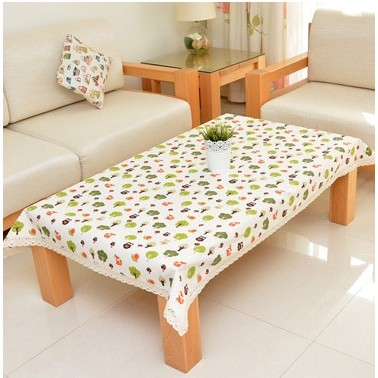 棉麻綠色森林可愛桌布桌巾洗衣機蓋巾防塵罩多用巾蓋布攝影好物 約10 14 天到貨