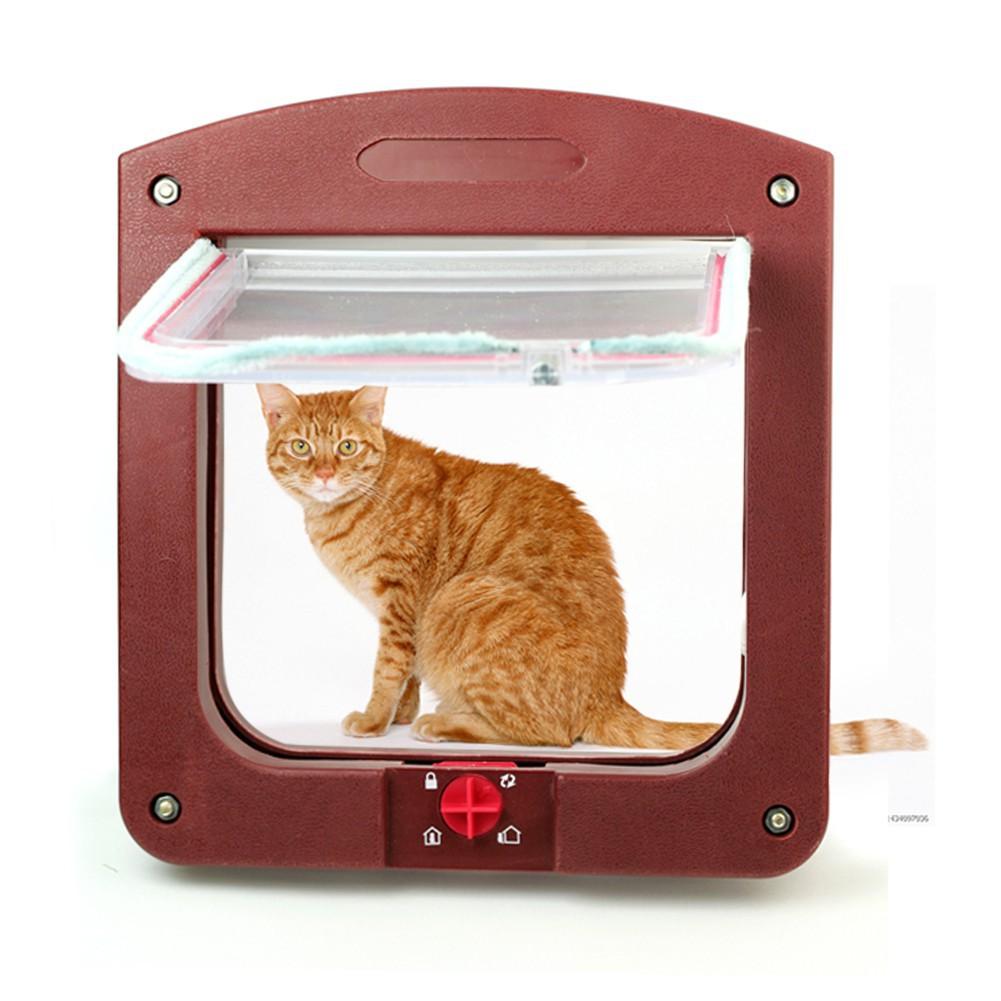 咖啡棕鎖定寵物貓小型犬皮瓣安全門隧道