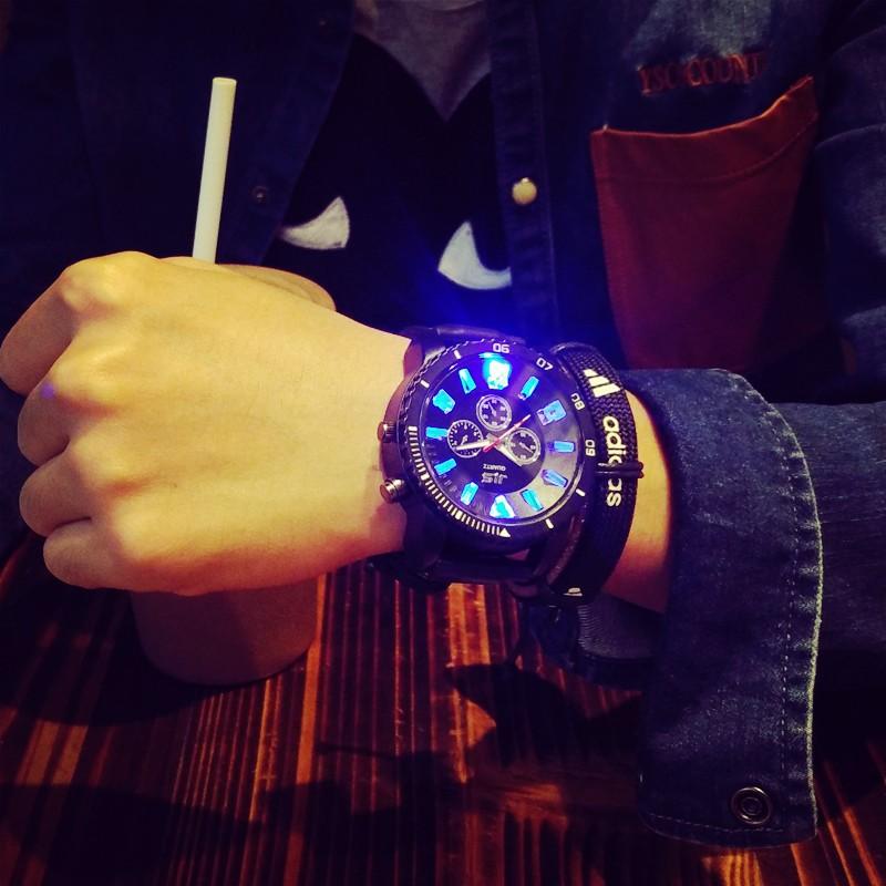 簡約男士手錶有機矽石英手錶大錶盤腕錶