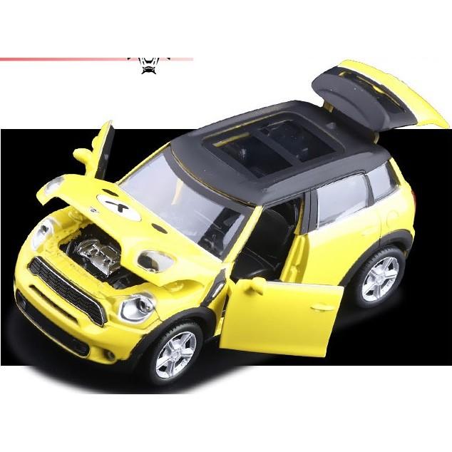 寶馬MINI 可開門聲光迴力合金車模男生男孩玩具