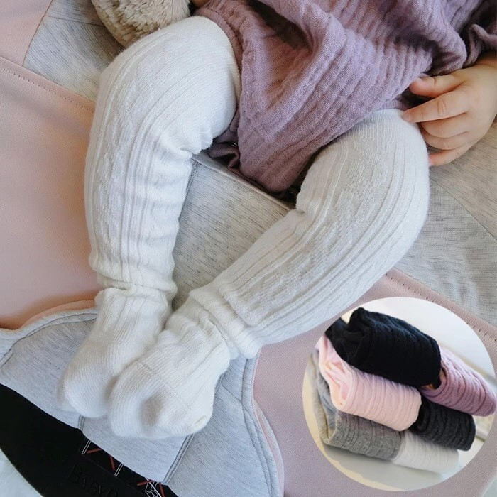 6 12m 、12 24m 賣場, ♦️小比媽咪♦️純棉同款兒童嬰兒連褲襪寶寶男女童連體襪