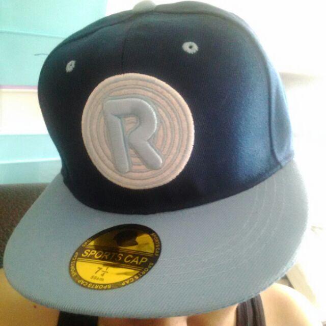 R 版帽棒球帽帥氣藍色系有感嘻哈