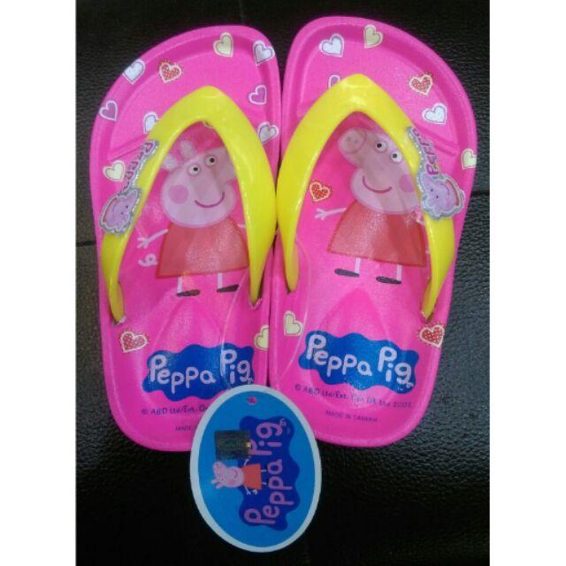 ~佩佩豬peppa pig ~兒童夾腳拖鞋愛心系列室內外皆可止滑 好穿脫
