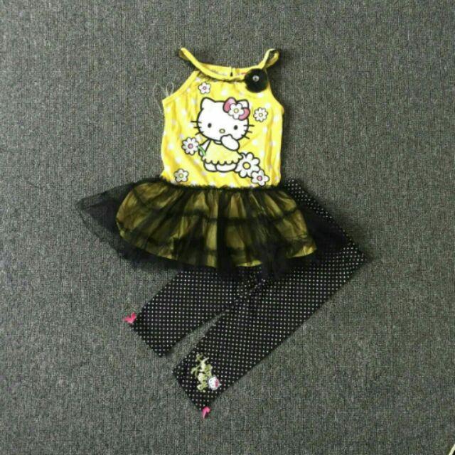 Kitty 背心套裝嬰幼兒女童紗裙洋裝蕾絲