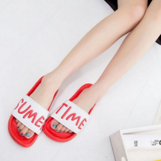SummerTime 撞色情侶拖鞋室內拖鞋浴室拖鞋防滑拖鞋海邊沙灘拖鞋字母拖鞋一字拖鞋馬卡