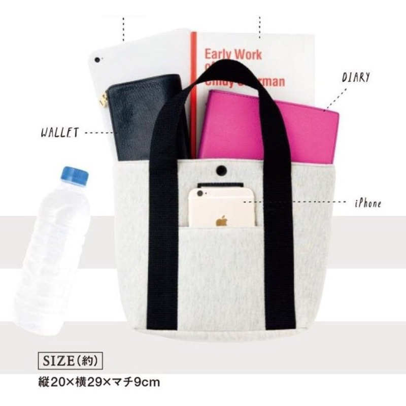 ✨Angelia ✨ mini 雜誌附贈附錄X girl 休閒手提袋托特包便當袋午餐袋環保
