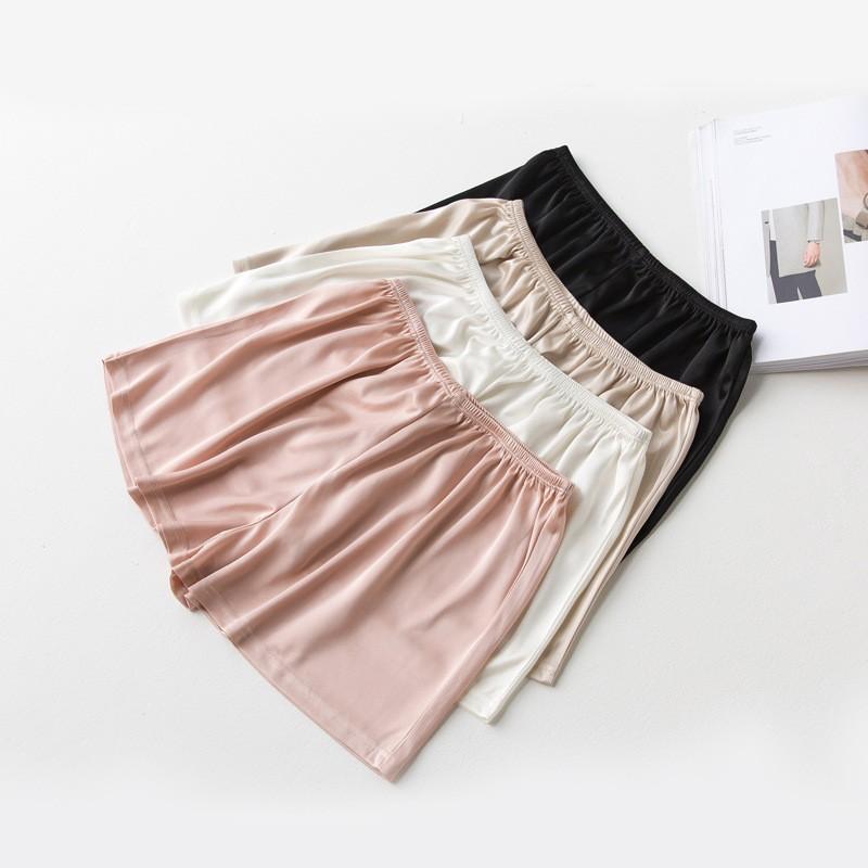 三分褲女純色防走光打底褲休閒 短褲透氣薄款女生 純色舒適氣質潮流 修身三分安全褲
