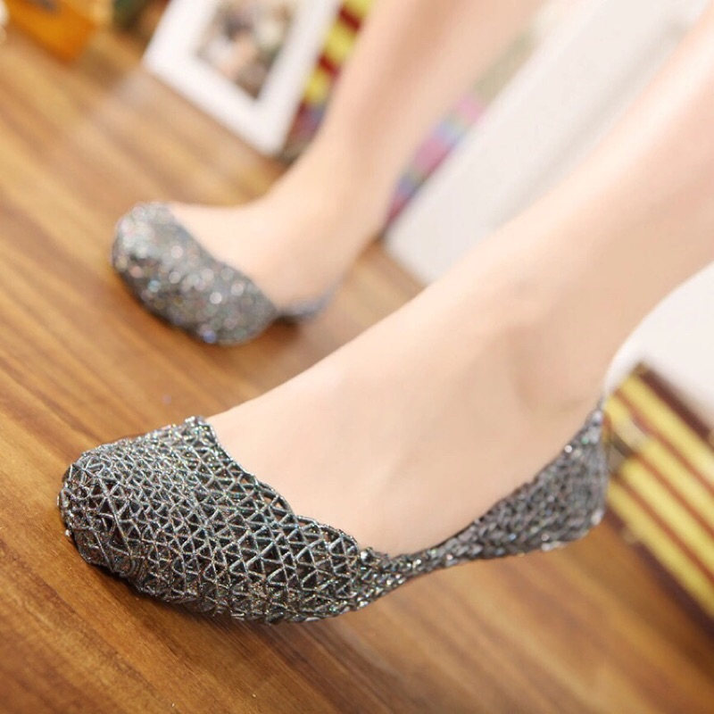 ( )Melissa 同款鳥巢鏤空平底鞋
