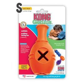 KONG Genius Leo 保齡球瓶抗憂鬱玩具GL3 (S )可連接MIKE 狗益智玩