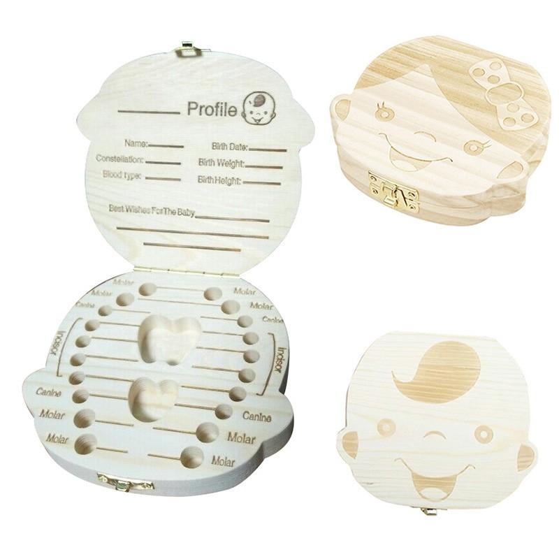 男女寶寶胎毛牙齒收藏盒牙屋全實木 木質乳牙保存盒VT0560