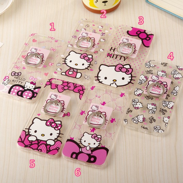 ~ ~Hello Kitty KT 凱蒂貓支架蘋果iphone6 6s 手機殼4 7 吋5
