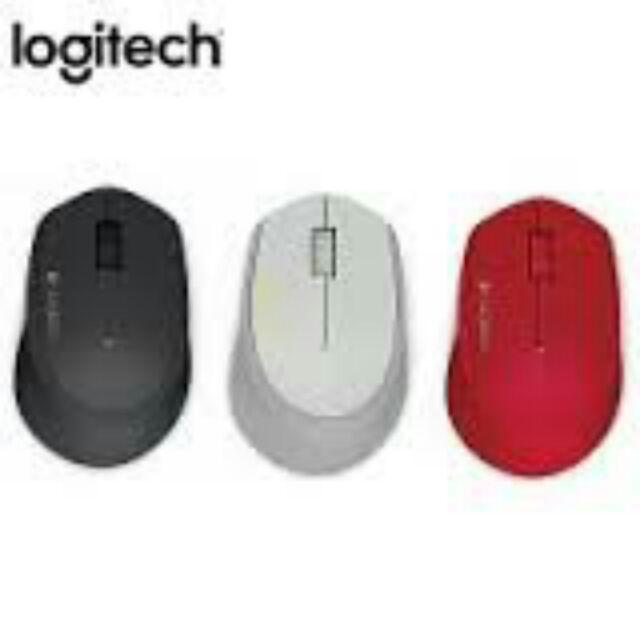 未拆封Logitech 羅技M280 人體工學無線滑鼠