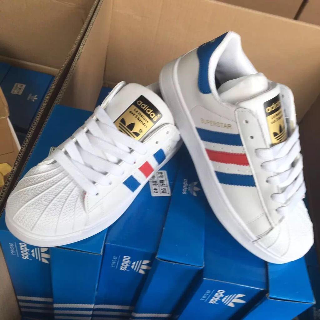 2016 爆款韓國金標藍白條紋貝殼 鞋