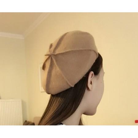 毛帽~6541 ~ 毛帽韓系復古純色高 小梗八角畫家南瓜貝蕾帽