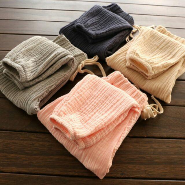 ( ) 兒童棉紗收口燈籠褲柔軟防蚊褲