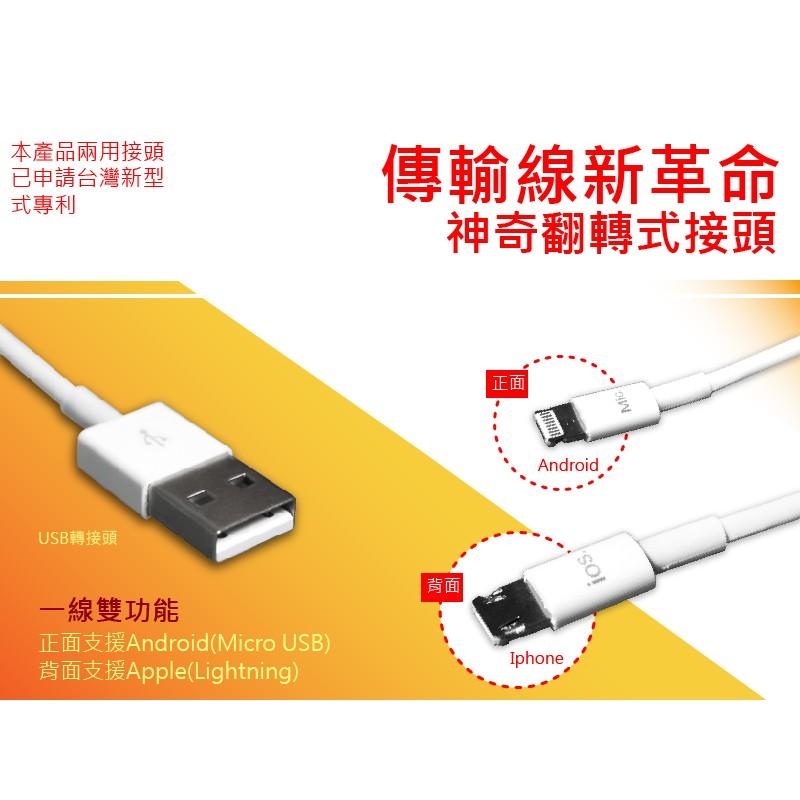 新 專利一線雙系統傳輸充電線蘋果與安卓兼容傳輸充電線