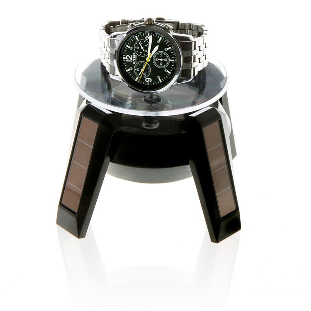 太陽能展示架手錶手機珠寶首飾旋轉展示臺