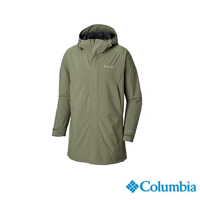 Columbia哥倫比亞 男款-Omni-TECH防水外套-軍綠 UWE12820AG