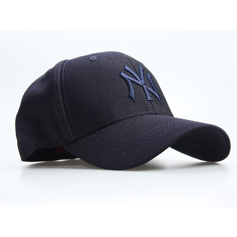 大聯盟紐約洋基NY 棒球帽子超帥低調款藍色