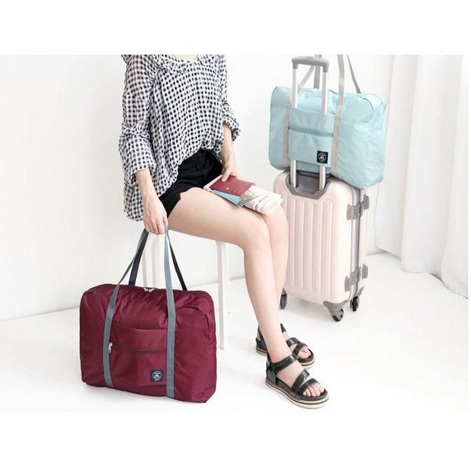 氣質純色大容量多 旅行拉桿收納包行李箱收納包簡約風