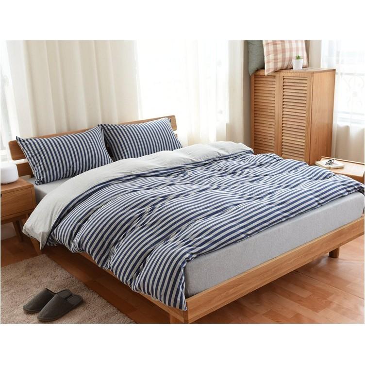 無印風~簡約MUJI 同料新彊天竺棉裸睡寢具四件套組16 款可機洗