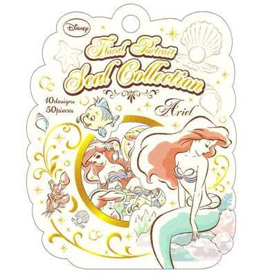 ~莫莫日貨~  迪士尼水彩塗鴉風公主系列燙金貼紙組貼紙包艾莉兒小美人魚46163
