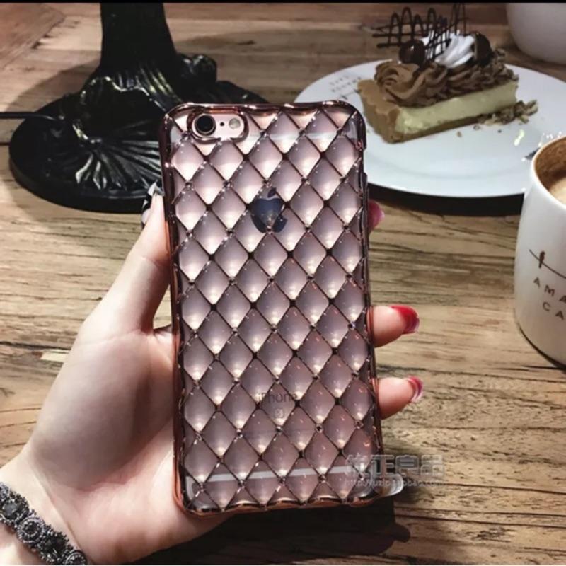 元気集®[ ]iPhone 6 6s 菱格紋軟殻手機殻