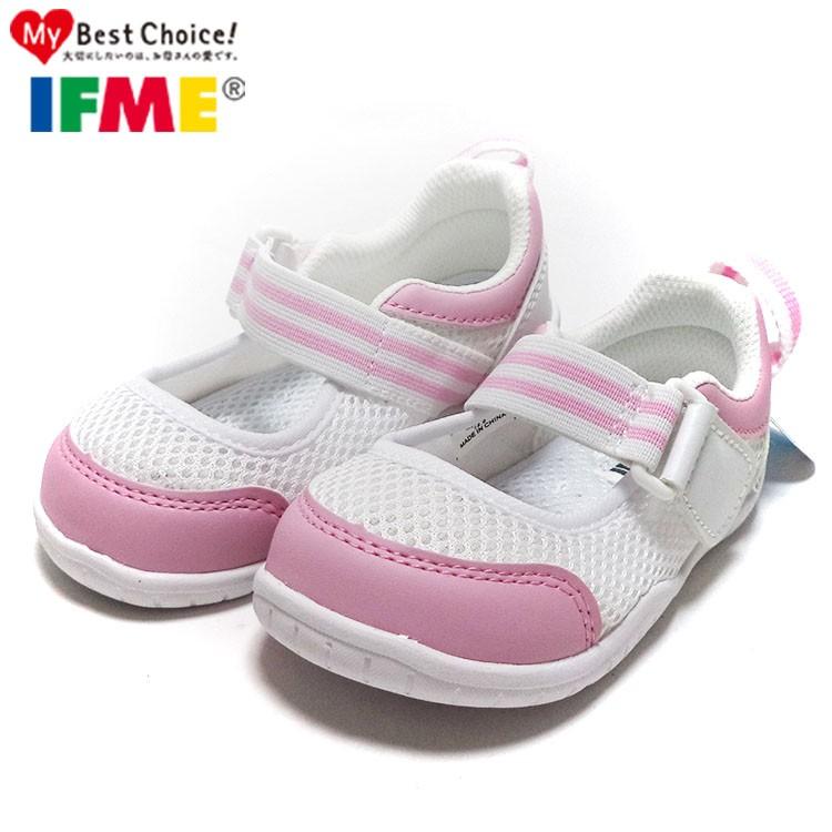 童鞋 IFME 兒童透氣網布機能水洗涼鞋室內鞋15 21 公分粉白