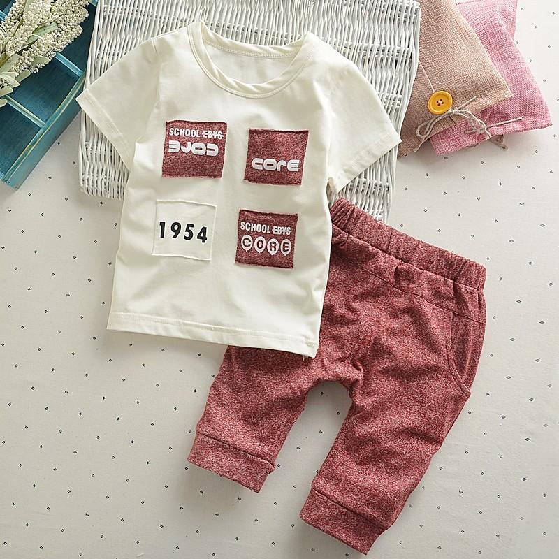 韓流0 4 歲寶寶短袖套裝男嬰兒夏裝純棉 套裝小孩夏天衣服男女 背心T 恤線衫Polo 衫