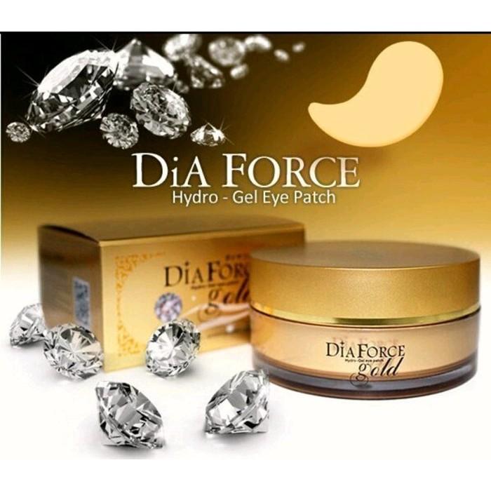 韓國Dia Force 黃金鑽石分子晶亮光澤晳白保水緊緻撫紋貴婦奢華眼膜,60 片