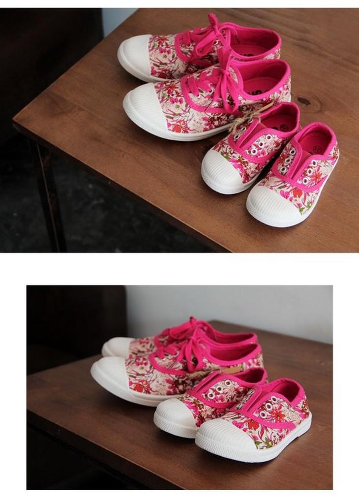 ﹂~ 部隊~﹁ ~ ~TS 正品親子鞋韓風碎花帆布鞋兒童百搭潮鞋母子鞋中小童中大童寶寶