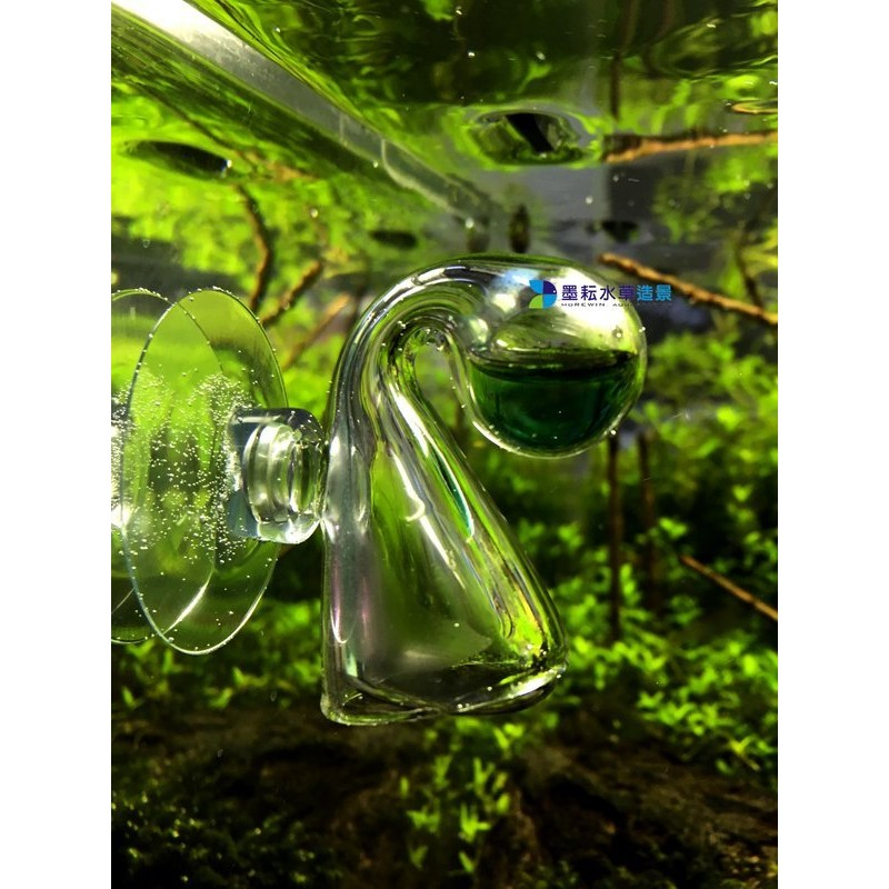 玻璃co2 監測器150 耳掛球水滴類ADA 型CO2 測試液10ml 墨耘水草造景Mor