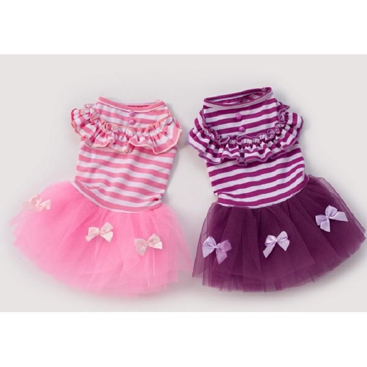 條紋蝴蝶結蓬蓬裙