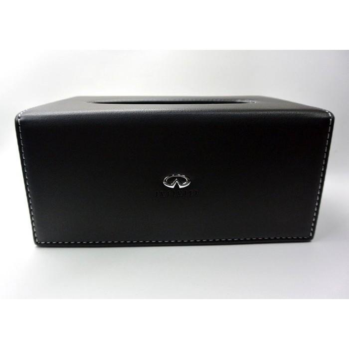 Infiniti 極致車系鑲崁LOGO 皮革面紙盒超高