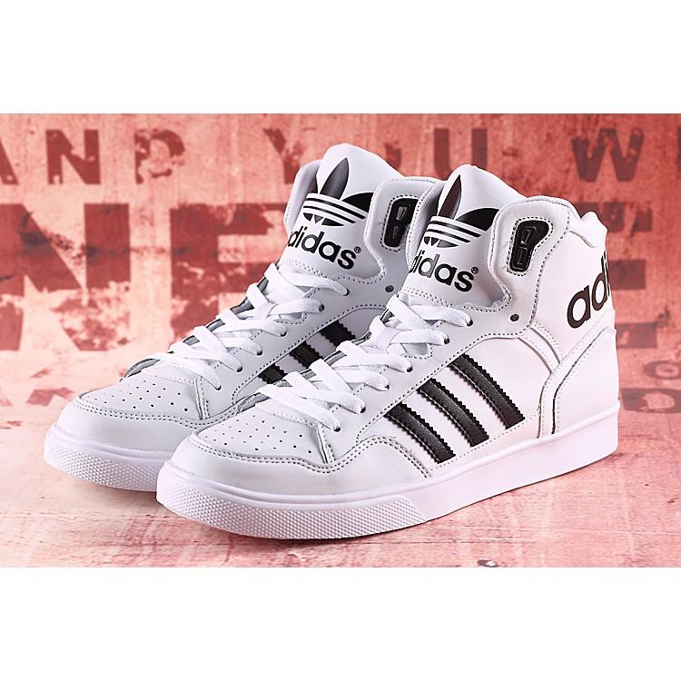 Adidas Extaball W 愛迪達高筒舒適潮流休閒鞋 鞋男女鞋白黑M20864