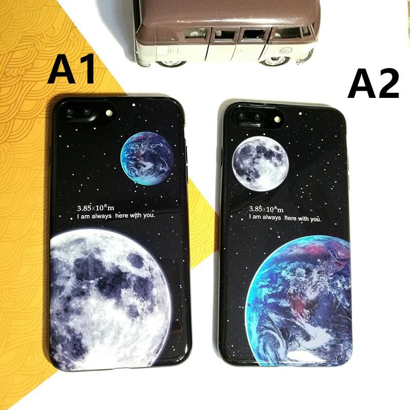 耐刮花光面地球和月球情侶款iPhone6 s 6 s plus i7 7plus 手機殼蘋