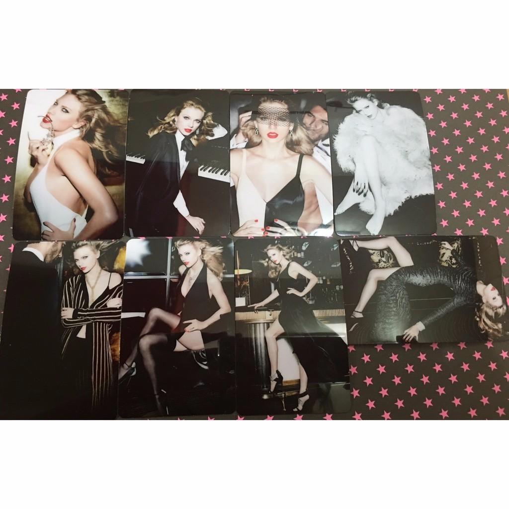 Taylor Swift 泰勒絲雜誌卡貼組不拆售
