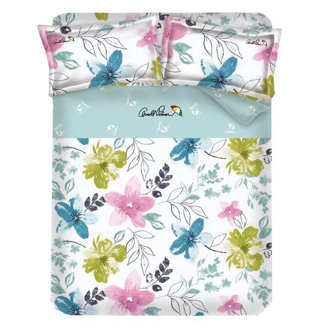 ~Arnold Palmer 雨傘牌~果漾戀人40 紗精梳純棉床包被套雙人加大四件組