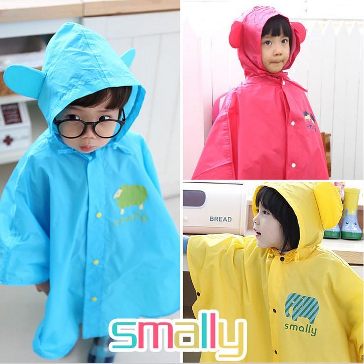 兒童雨衣~蝦皮最 ~超可愛卡通寶寶雨披smally 三種顏色可愛小耳朵男童雨衣女童雨衣防風