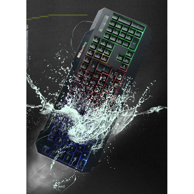 飚航家用辦公鍵盤筆記本外接電腦鍵盤台式防水USB 有線鍵盤背光遊戲電腦有線鍵盤發光台式機械