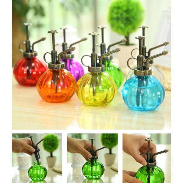 彩色復刻懷舊版灑花澆水玻璃瓶噴霧玻璃瓶 用品灑花器澆花器HEEV 28