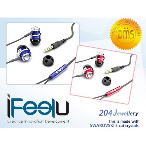 ~多元也~附發票iFeelu 3D 骨傳導震動耳機施華洛世奇水鑽3 色EX2 204J 重