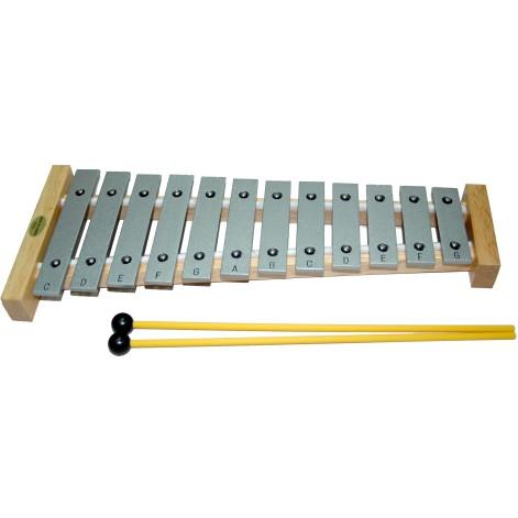 ~華邑樂器53032 ~台製12 音鐵琴銀色附紙盒琴槌鋁製奧福節奏樂器