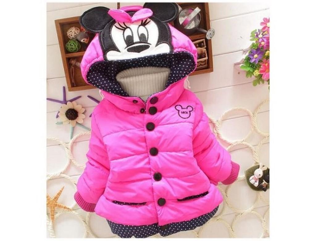 ~蜜寶貝~~可 ~ 中小兒童加絨棉襖女童米妮棉服冬款女童大衣外套高領保暖上衣長袖0011