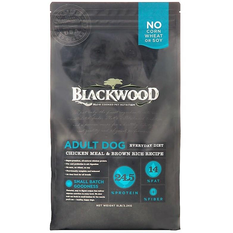 柏萊富~雞肉糙米~成犬活力配方,一歲至七歲成犬,BLACKWOOD 美國天然糧