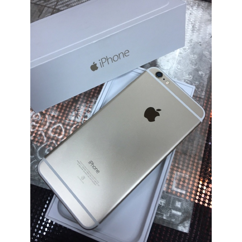 iPhone 6 plus 金色16g 5 5 寸 中古機
