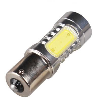 白光黃光紅光定電流無極性 魚眼高亮度爆亮COB 方向燈煞車燈1156 規格單芯燈泡12V