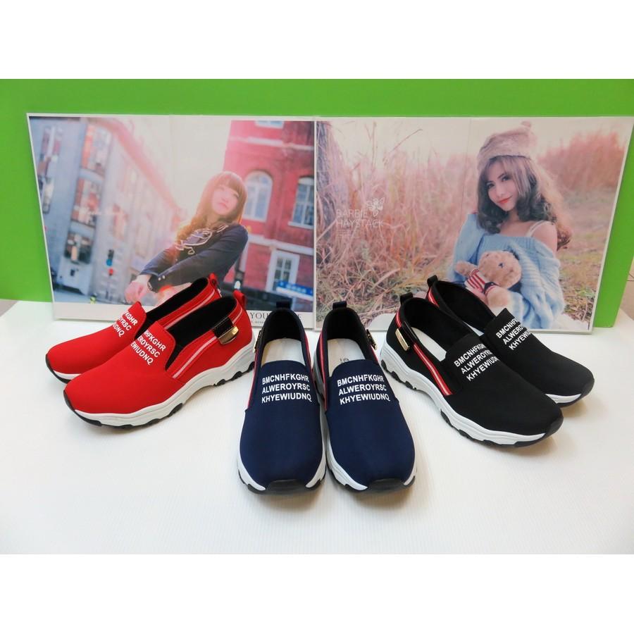 Pink 蜜糖甜心 款韓系率性休閒感厚底防滑懶人包鞋休閒鞋36 40 號藍色紅色黑色