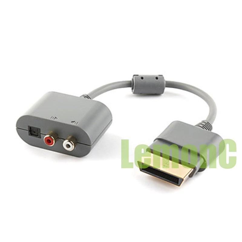 XBOX360 音頻轉換器AV 端子轉接頭轉接線5 1 輸出RCA 輸出音訊音頻輸出xbo