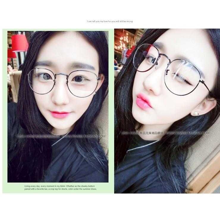 igs007 文藝眼鏡 眼鏡大框眼鏡復古眼鏡圓鏡框眼鏡文青眼鏡小清新平光眼鏡韓妞